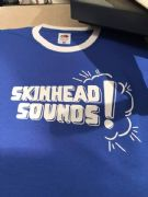 Skinhead sounds Royal blue ringer tshirt